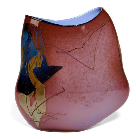 William Morris (American born 1957) Purple Shard Vase #23, 1980