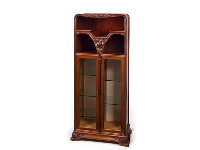 A good Majorelle carved-mahogany cabinet: Les Pins circa 1900