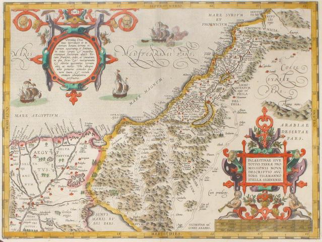 ORTELIUS, ABRAHAM. 1527-1598. Palestinae sive totius terrae promissionis.