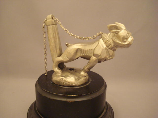 A Bulldog on Chain mascot by Marvel, French, 1923,