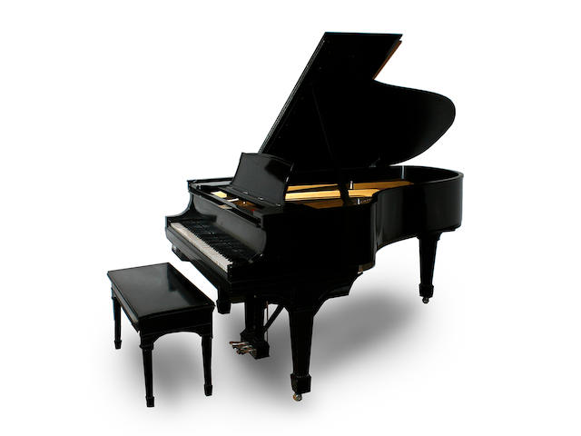 A Steinway ebonized grand piano, Model O