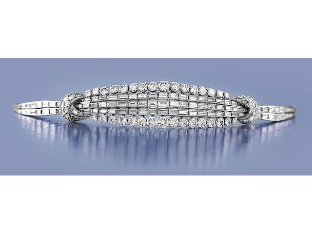 A diamond bracelet, Sterlé,
