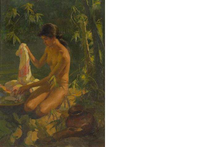 Portrait of a nude Fernando Amorsolo