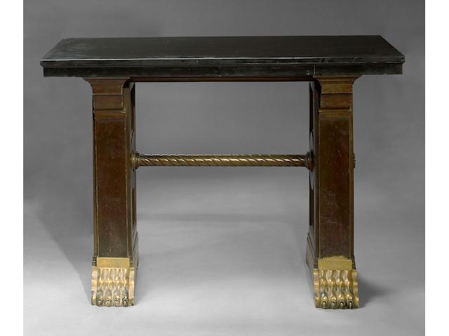 A Baroque style table from Paris bank Crédit Lyonnais