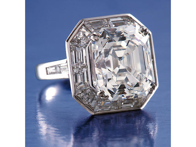 An impressive diamond solitaire ring