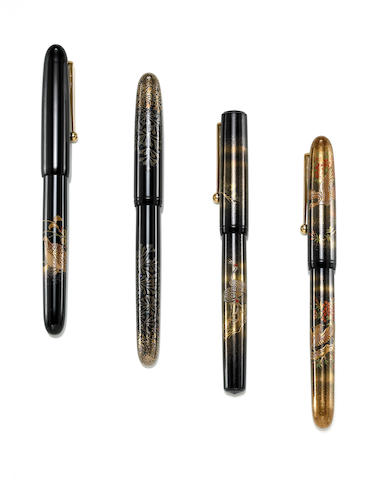 NAMIKI: Dunhill Four Piece Anniversary Set  Limited Edition Maki-e Fountain Pens