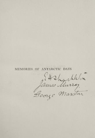 MURRAY, JAMES, AND GEORGE MARSTON. Antarctic Days. London: Andrew Melrose, 1913.