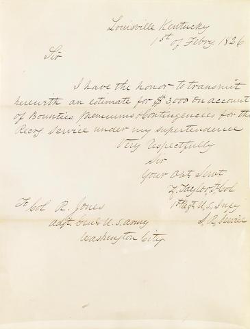 TAYLOR, ZACHARY. 1784-1850.
