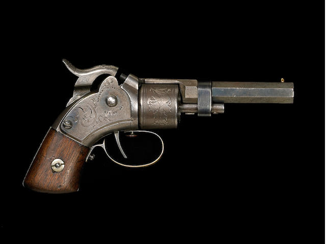 A Massachusetts Arms Company Maynard-primed percussion pocket revolver