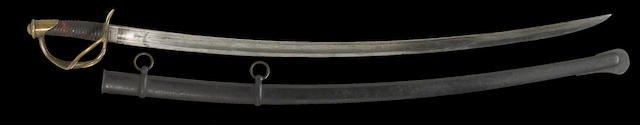 A U.S. Model 1840 cavalry saber by N.P. Ames