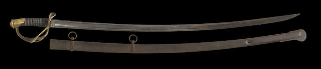 A U.S. Model 1840 cavalry saber imported by Tiffany & Co.