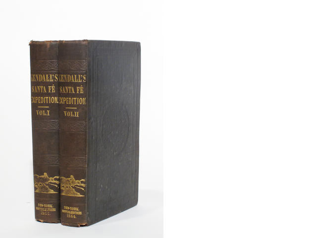KENDALL, GEORGE WILKINS. 1809-1867. Narrative of the Texan Santa Fé Expedition, Comprising a Description of a Tour through Texas ... and Final Capture of the Texans, and Their March, as Prisoners, to the City of Mexico. New York: Harper and Brothers, 1844.