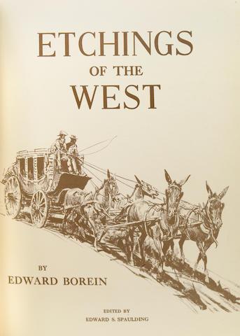 BOREIN, EDWARD. SPAULDING, EDWARD S., editor. Etchings of the West. [Santa Barbara: Schauer, 1950.]