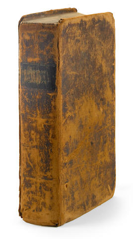 SMITH, JOSEPH, JR. 1805-1844. EARLY CONVERT SERENUS BURNET'S COPY.<br> The Book of Mormon: an Account Written by the Hand of Mormon, Upon Plates Taken from the Plates of Nephi. Palymra: E.B. Grandin, for the Author, 1830.