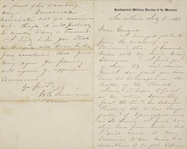 SHERMAN, WILLIAM TECUMSEH. 1820-1891.