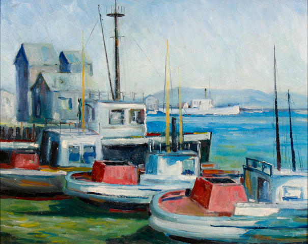 (n/a) John Earle Coolidge (American, 1882-1947) San Pedro Harbor, 1935 16 x 20in