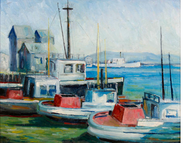 John Earle Coolidge (American, 1882-1947) San Pedro Harbor, 1935 16 x 20in