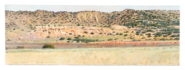 (n/a) Woody Gwyn (American, born 1944) Mesita Blanca, Galisted, New Mexico 12 x 36in unframed