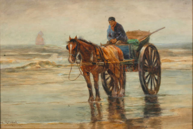 W. Ritchel Man in a horse and cart