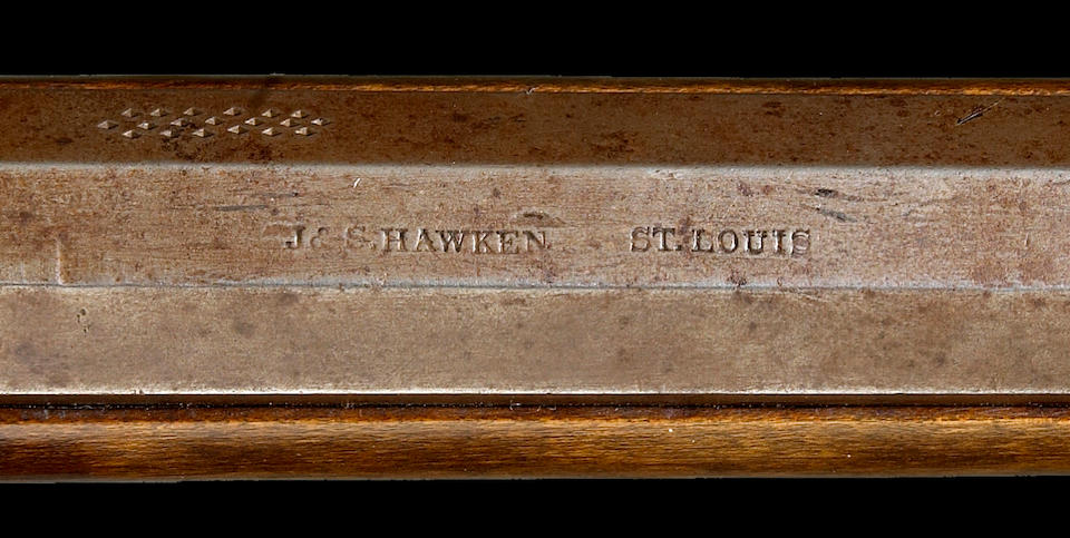 A rare engraved American half-stock percussion rifle by Jacob & Samuel Hawken