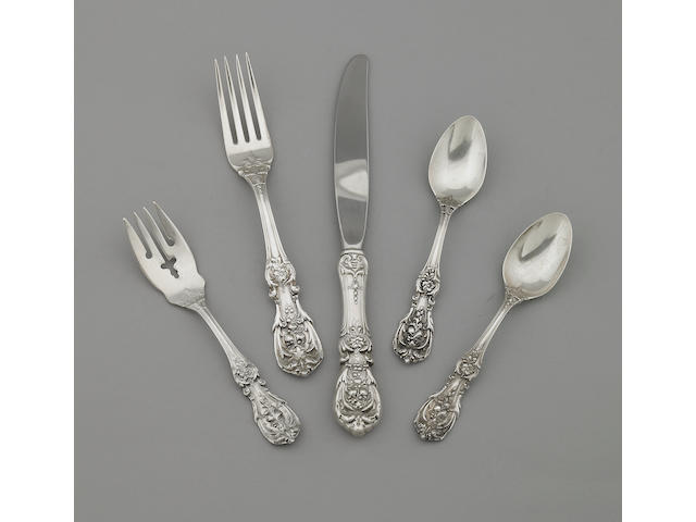 10 A Reed & Barton silver flatware service in the Francis I pattern