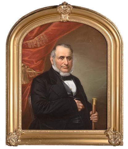 (n/a) Anonymous A portrait of a ship owner  37 x 29 in. (94 x 73.7 cm.)