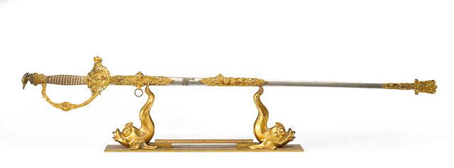 An extravagent American presentation sword
