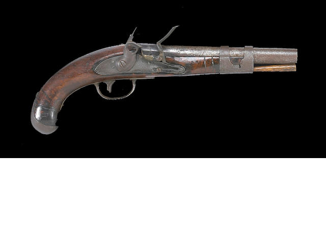 A U.S. Army Model 1813 flintlock martial pistol by Simeon North