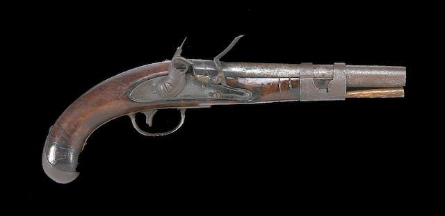A U.S. Army Model 1813 flintlock martial pistol by Simeon North