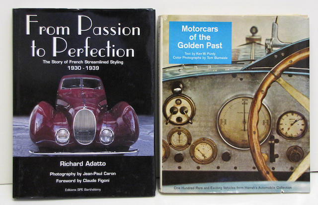 Assorted motoring reference books,