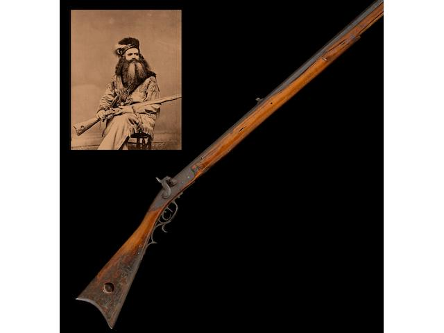 An historic American percussion rifle owned by early California frontiersman Seth Kinman
