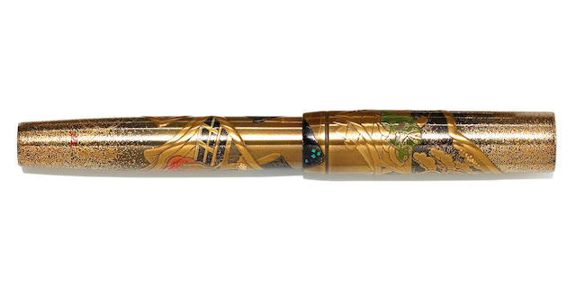 NAMIKI: Pilot Namiki 80th Anniversary Mayabi Soushi-e Limited Edition Maki-e Fountain Pen