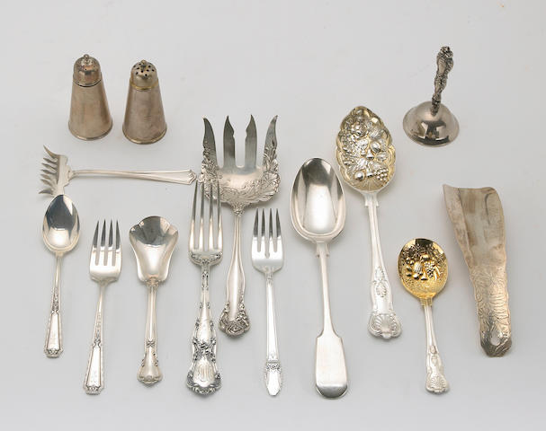Quantity of Silver Flatware and Table Articles with Plated and Other Flatware