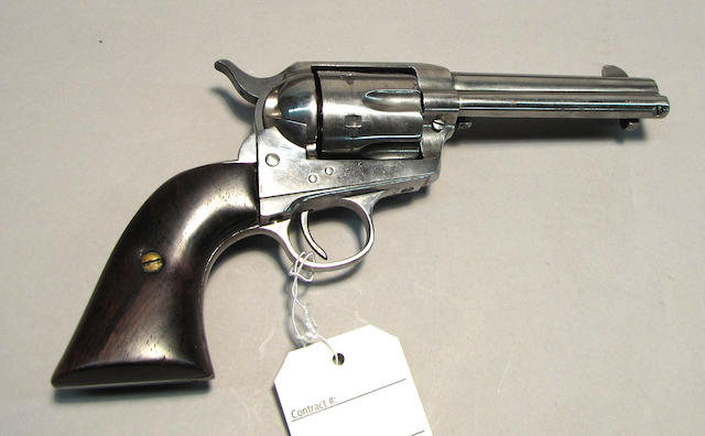 A Colt single action army revolver