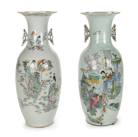 A group of Chinese famille rose enameled porcelains