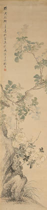 Zhang Xiong, Gardenia, hanging scroll