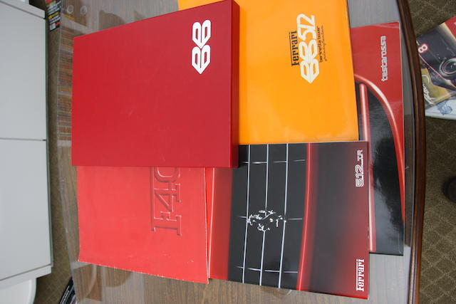 A selection of Ferrari sales literature,