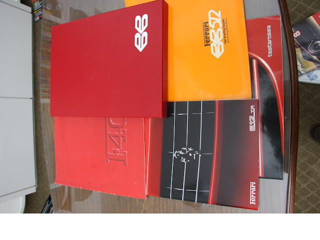 A selection of Ferrari sales literature,