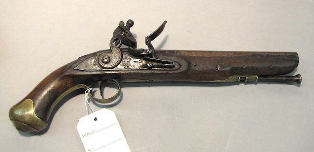 A British East India Company pattern flintlock dragoon pistol