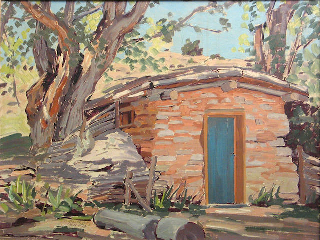 Conrad Buff, Maynard Dixon's cook house, signed: l/r, American, o/c, 12 x 16in