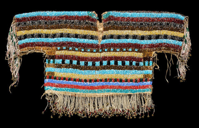 A Blackfoot bugle-beaded boy's shirt