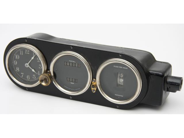 A Pierce Arrow combination dashboard unit,