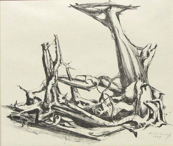 Karl Hartaug, Phantastischs Gerippe, 1947 .