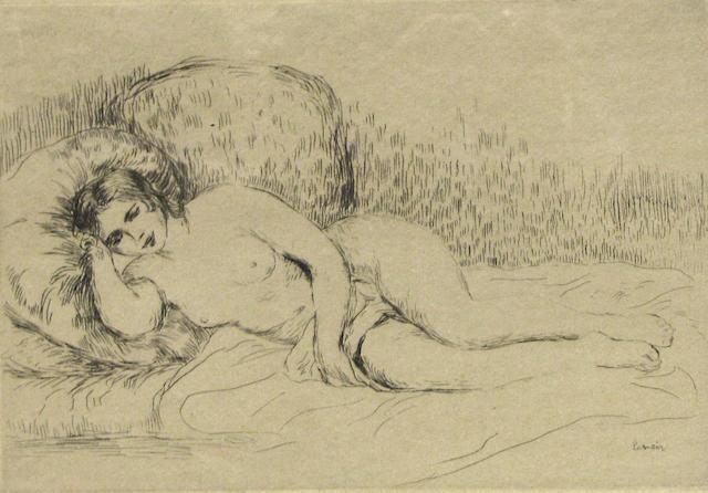 Renoir, etching;
