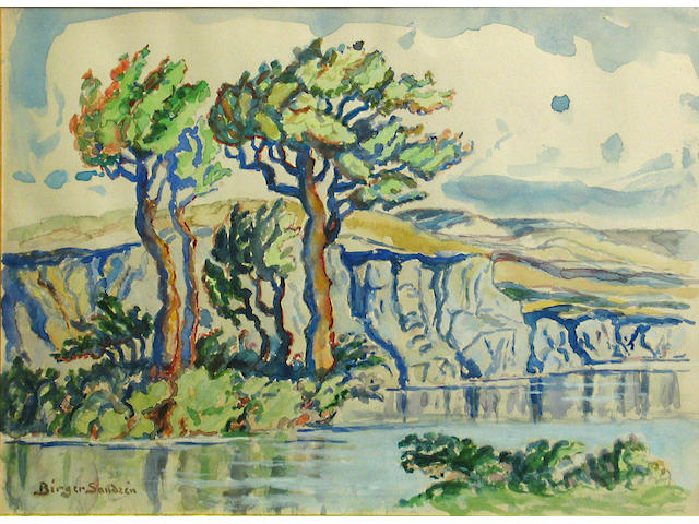 (n/a) Birger Sandzen (American, 1871-1954) Mountain view sight: 10 1/2 x 14 1/2in