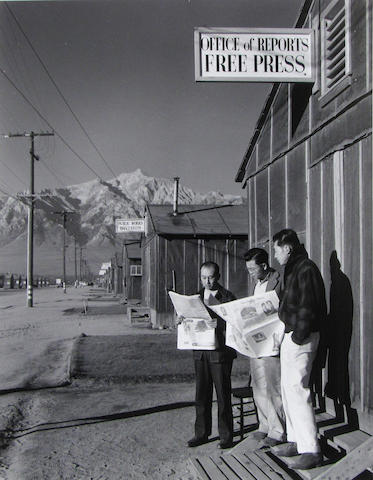 Ansel Adams (American, 1902-1984); The Manzanar War Relocation Center; (50)
