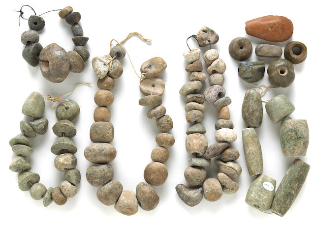 A collection of pre-Columbian stone items
