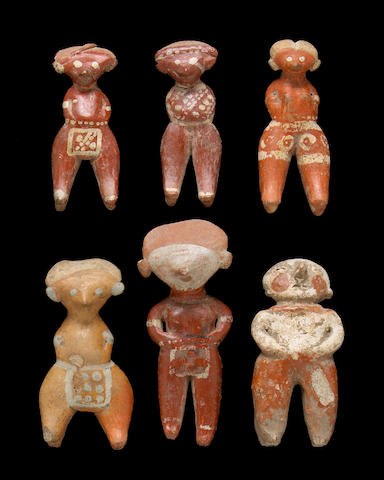 Six Chinesco miniature figures