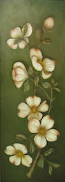 Rose Tigeman and two other artists,White dogwood and two other foloral works (three), signed on the reverse, each o/c, 18 x 48in; 23 x 10in; 48 x 18in