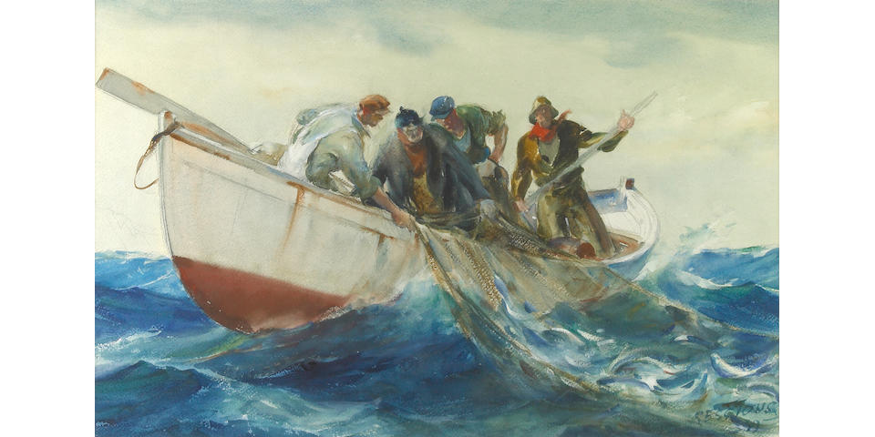 James Milton Sessions (American, 1882-1962) Fishermen